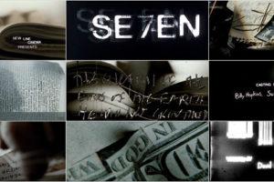 映画『se7en セブン』(1995) OPタイトル byカイル・クーパー