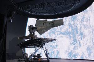 映画『ファースト・マン(原題First Man)』(2019) デミアン・チャゼル監督 巨大なLEDフロントスクリーンを背景に宇宙を合成 VFXは英DNEG(Double Negative)
